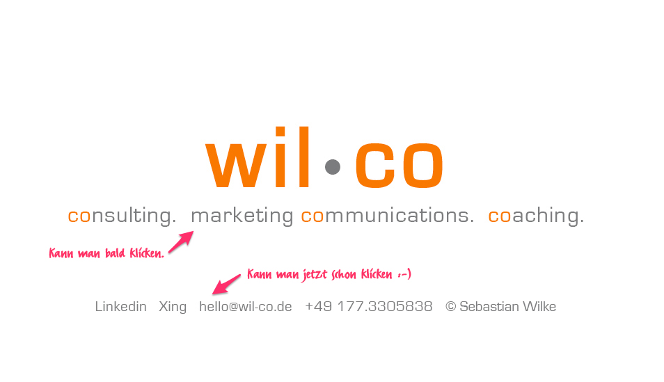 wil•co | consulting. marketing communications. coaching.